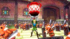 Hyrule Warriors: Skyward Sword update (July 2014) - Link gets gloves item and can break pots! #Zelda #HyruleWarriors #WiiU