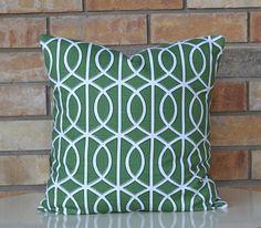 Green modern pillow geometric pillow by ModernTouchDesigns on Etsy, $27.00