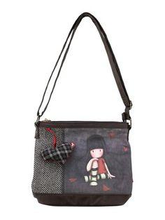 Santoro Gorjuss The Collector Shoulder Bag #Hearts #Tartan