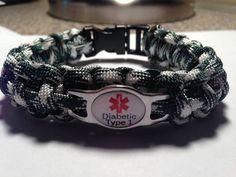 Custom Paracord Diabetic Medical Alert by KnotRightParacord