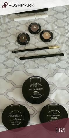"""**Lancome bundle*"""" All New Great make up bundle. 3 eyeshades, Lancome's #1 mascara Definicils, CLS Booster (primer), Le Crayon Khol in Black Ebony and dual ended brush. Close to $ 150 value. What a steal!!!! ?? Lancome Makeup"""