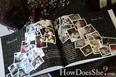 Photo book page examples