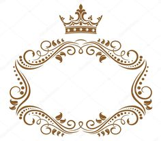 Elegant royal frame with crown isolated on white background Frame Background, Background Vintage, Vintage Labels, Logo Vintage, Hand Embroidery Patterns Flowers, Crown Logo, Borders And Frames, Instagram Logo, Beauty Logo
