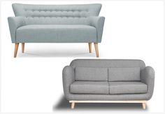 Canapé scandinave gris ou bleu ciel