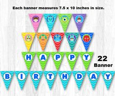 Monster Banner Monster Bunting Monster Inc Banner by KidzParty