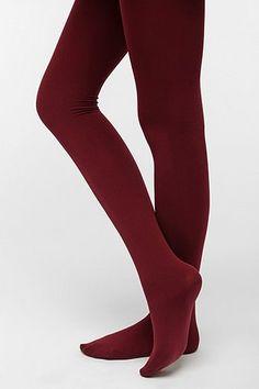 Fleece-Lined Tight in Maroon