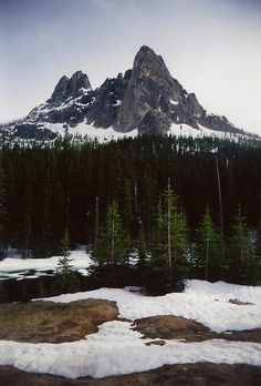 North Cascades National Park, Washington, United States.  Don't know the name of the mountain, sadly.