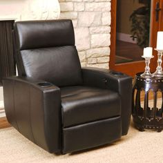 Hanover Top Grain Leather Power Theater Recliner & Catalina Leather Pushback Recliner $1150 38wx39lx39h | 3. Theater ... islam-shia.org
