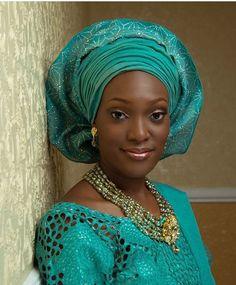 Attaché foulard aso Oke gélé headwrap turban