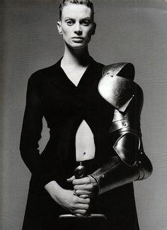 Yohji Yamamoto Magazine: Detour March 1997 Photographer: Thierry le Goues Model: Kristen McMenamy