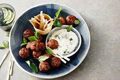 Tandoori lamb meatballs with minted yoghurt main image