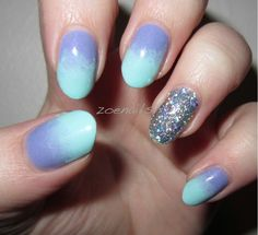 something about gradient nails are awesome.