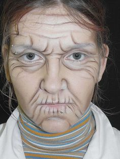 DIY Old Lady Makeup by Erika Gomez - Musely Halloween Makeup halloween makeup old lady Old Lady Halloween, Costume Halloween, Halloween Makeup, Costume Zombie, Halloween Halloween, Vintage Halloween, Old Lady Makeup, Old Man Face, Character Makeup