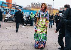 Anna Dello Russo in Gucci. Milan Fashion Week Feb 2016