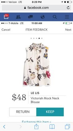 I love this floral print and the style of this top would be great for layering at work.