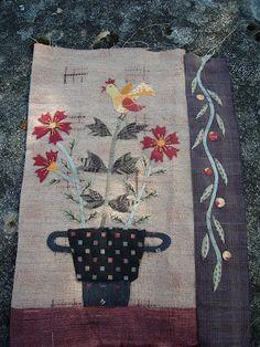 BusyBeeFree: Yoko Saito Flower bouquet quilt 2 ....6 blocks finished