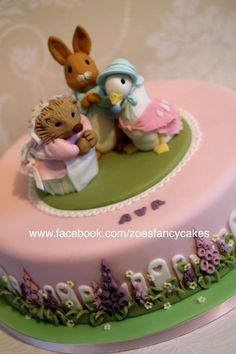 Beatrix Potter Christening cake - Cake by Zoe's Fancy Cakes