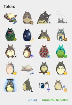 This is the Totoro sticker pack. Totoro is a very famous and loved character from a Japanese animated film written and directed by Hayao Miyazaki and produced by Studio Ghibli Add it here=> Totoro sticker p