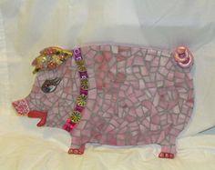 Mosaic Pig Wall Hanging