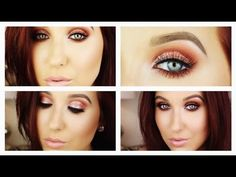 Smokey Summertime Sparkle - Makeup Tutorial (I tried this last week and it looked AMAZING! Usually if I wear reds, purples, and pinks, I look like I just got socked in the eye but the burgundy red mixed with a warm deep brown and some reddish pink sparkle on the lid looked HOT) I highly recommend this tutorial for all eye colors, even pale blue-eyed blondes!