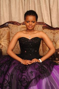 Princess Sikhanyiso of Swaziland royal  africa. purple gown