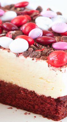 M&M's® Red Velvet Frozen Cheesecake
