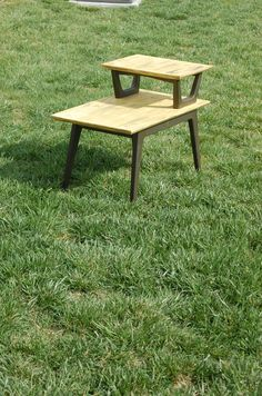 Free Shipping in the US! $100 or best offer! Upcycled Antique End Table / Hand Painted and by RJsThisandThat