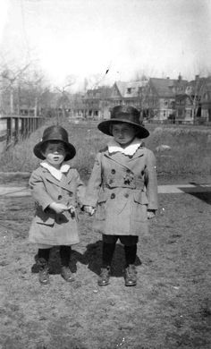 2 year-old John F. Kennedy and his brother Joseph P. Kennedy Jr. -Brookline, Massachusetts, circa 1919