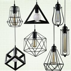 Cheap light fixtures, Buy Quality iron cage directly from China cage lampshade Suppliers: Retro indoor lighting Vintage pendant light LED lights 24 kinds iron cage lampshade warehouse style light fixture Vintage Pendant Lighting, Kitchen Pendant Lighting, Kitchen Pendants, Vintage Chandelier, Bathroom Light Fixtures, Pendant Light Fixtures, Pendant Lights, Bathroom Lighting, Pendant Lamps