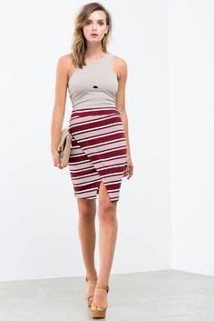 Lori Stripe Origami Skirt