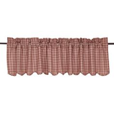 Independence Scalloped Curtain Valance 72 x 16 Valances & Cornices, Window Cornices, Window Coverings, Window Treatments, Curtain Valances, Kitchen Valances, Curtain Lights, Primitive Kitchen