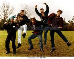 Take That Pop Group members are Robbie Williams Jason Orange Gary Barlow Mark Owen and Howard Donald - Stock Image Take That Band, Howard Donald, Jason Orange, Mark Owen, Gary Barlow, Robbie Williams, The Old Days, Pop Group, Boy Bands
