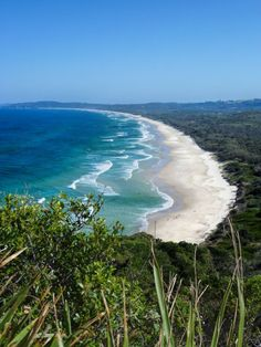 The view from the lighthouse in Byron Bay