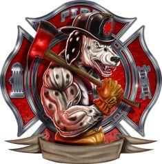 Maltese Cross Firefighter, Firefighter Stickers, Firefighter Paramedic, Wildland Firefighter, Volunteer Firefighter, Fire Truck Drawing, Fire Department Shirts, Fire Badge, Antique Trucks