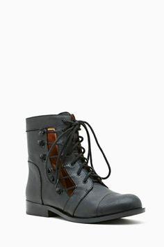 Matiko Samantha Cutout Combat Boot