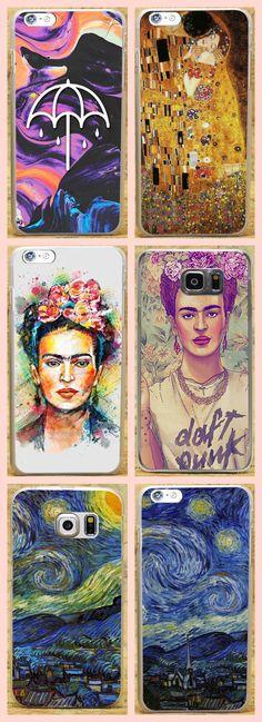 Frida Kahlo Fav Ciraolo Van Gogh Starry night Kiss by Gustav Klimt Case Cover iPhone Samsung Huawei For iPhone 4 / 4s / 5 / 5s / 5c / 6 / 6plus / 7 /7 Plus For Samsung A3 A5 A7 2015 2016 2017 A8 J3 J5 J7 2015 2016 S3 S4 S5 /mini/ S6 S6 Edge + S7 S7 Edge For Huawei P6 / P7 / P8 / P8 Lite / P9 / P9 Plus / Honor 6/6 Plus/ Honor 7 / 7 Plus/ Honor 8 / V8 /Mate S/7/8 For Sony Xperia Z2 Z3 Z4 Z5