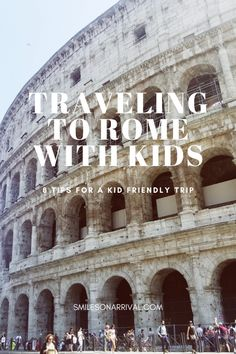 Traveling to Rome With Kids Italy Travel Tips, Rome Travel, Travel Abroad, Travel Guide, Travel With Kids, Family Travel, Family Trips, Family Vacations, Italy Destinations