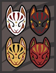 tipos de mascaras kitsunes
