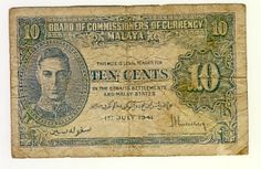 Board of commissioners of currency Malaya note