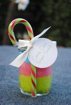 DIY Candy Cane Sugar Scrub. Great Christmas Gift!