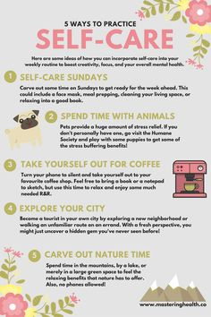 How do you practice self-care? I lay out my favourite ways and challenge you to carve time out of your day to take care of yourself. [www.masteringhealth.co]