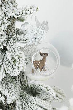 Shabby Chic Christmas, Christmas Deer, Retro Christmas, Christmas 2019, Christmas And New Year, Winter Christmas, Deer Ornament, Diy Ornaments, Christmas Ornaments