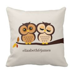 this is such a cute owl pillow! love the two owls sitting by each other! Owl Wedding, Wedding Gifts, Wedding Decor, Wedding Ideas, Wedding Rsvp, Wedding Card, Summer Wedding, Wedding Ceremony, Wedding Stuff