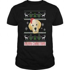 Awesome Tee Labrador Retriever Santa Snow Christmas TShirt T shirts
