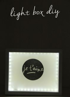 DIY Industrial Lightbox using our je t'aime JUMBO mambiSTICK | via A Bubbly Life