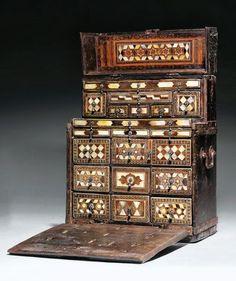 An Ottoman Inlaid Jewellers Chest. Turkey. 17th century AD / 11th century AH.