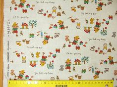 One yard  Pinocchio printed japanese fabric by HanamiBoutique