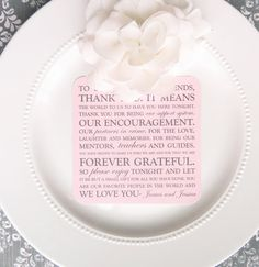 Wedding thank you for reception. #wedding #receptionthankyou  Check out this item in my Etsy shop https://www.etsy.com/listing/120698789/wedding-reception-thank-you-card-style