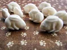 Bali Bunny Bead in Carved Bone by Indounik on Etsy, $5.00