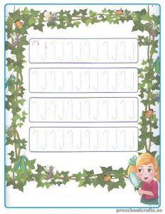 Printable Tracing Line Worksheets for Kindergartner